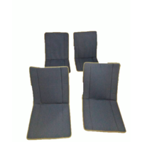 thumb-Original seat cover set for complete set in blue striped cloth (exact copy of the original cloth!) years ' 50 ' 60 Citroën 2CV-1