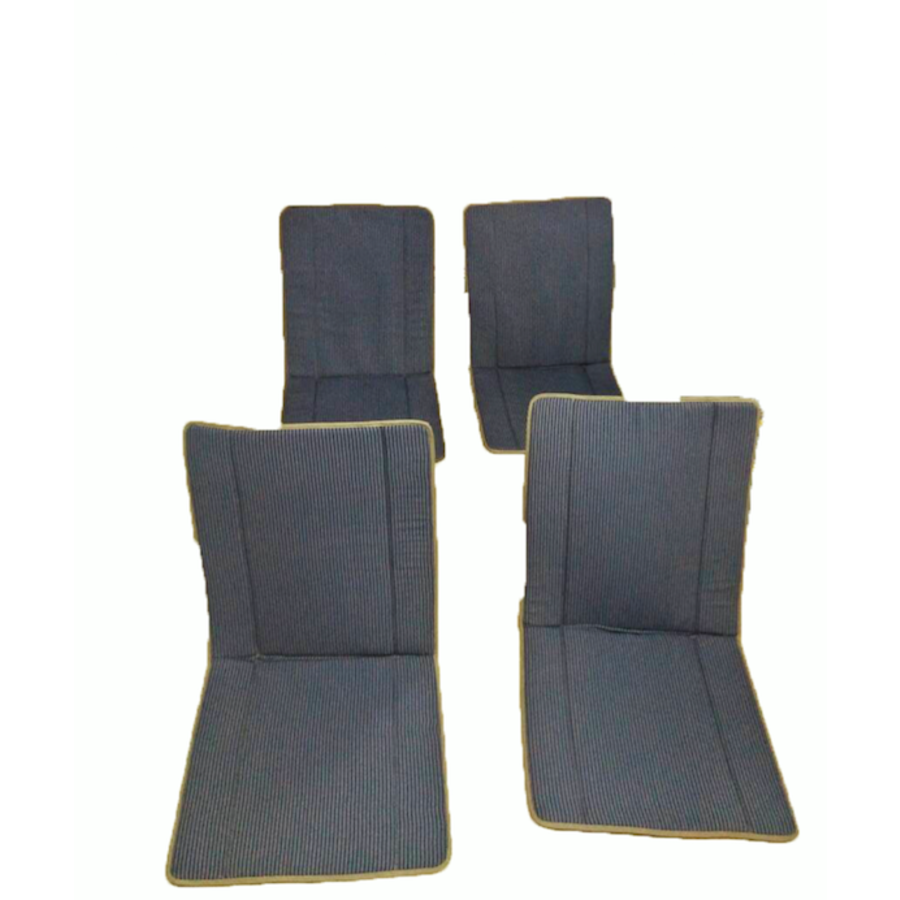 Original seat cover set for complete set in blue striped cloth (exact copy of the original cloth!) years ' 50 ' 60 Citroën 2CV-1