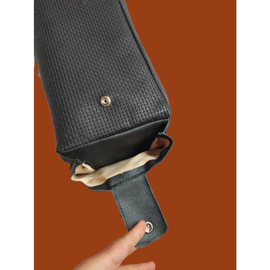 Apoio central para braço, completo, com revestimento em couro sintético preto,, Dyane, Ami, Visa, etc Citroën 2CV-2
