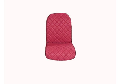 Front L seat cover 2 round angles in strong red PVC Citroën 2CV