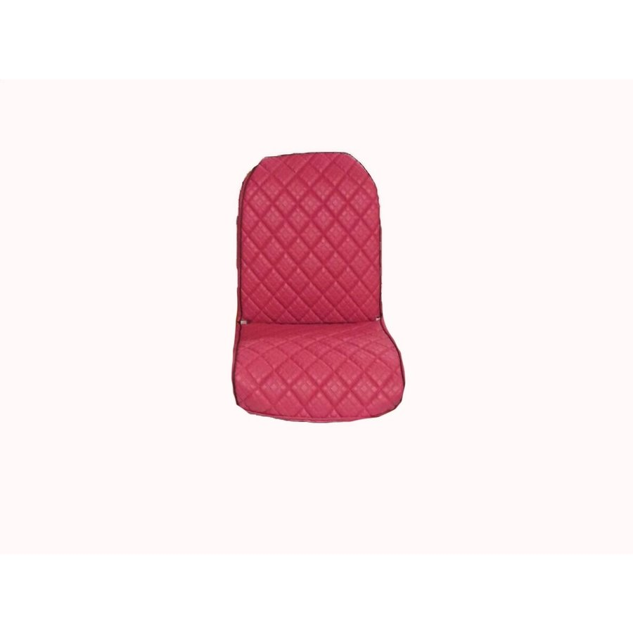 Front L seat cover 2 round angles in strong red PVC Citroën 2CV-1