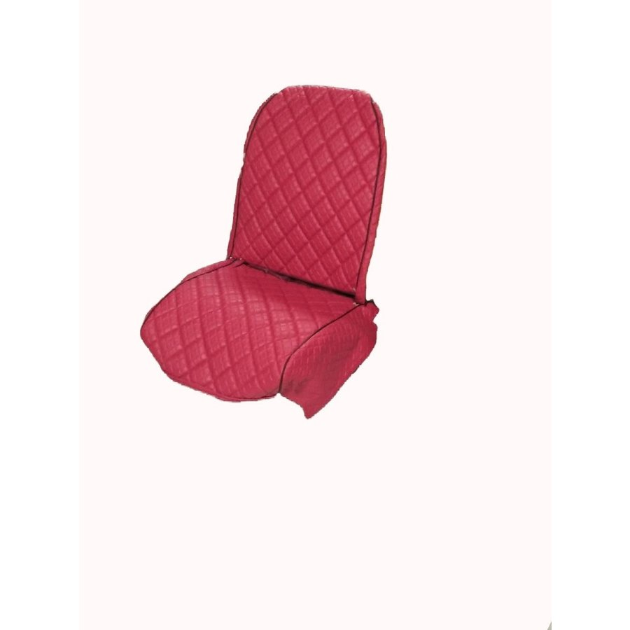Original seat cover set for rear bench in red leatherette Dyane Citroën 2CV-3