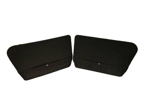 2CV Set of 2 doorpanels black leatherette for Acadiane