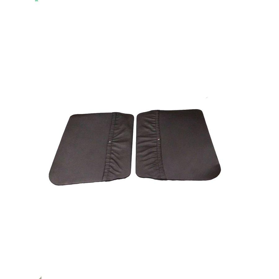 Jogo de 2 painéis de porta, em couro sintético preto para Acadiane Citroën 2CV-2