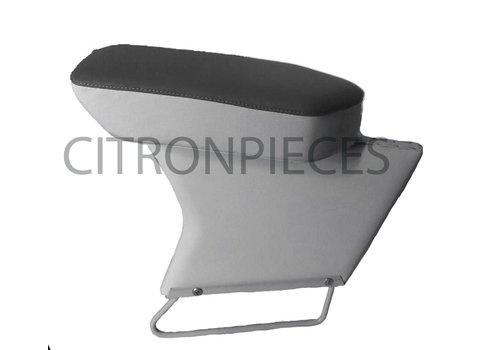 Apoio central para braço completo com revestimento em tecido cinza e couro sintético cinza claro Citroën ID/DS