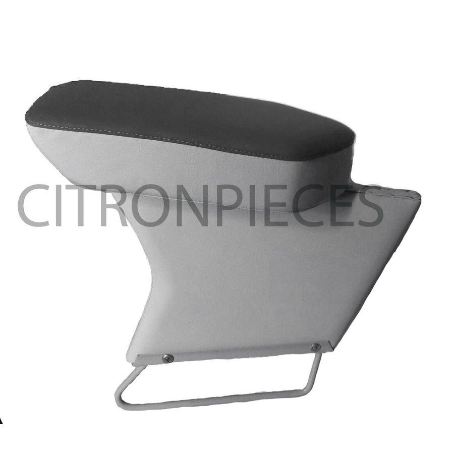 Accoudoir central complet garni tissu gris et simili mastic Citroën ID/DS-1
