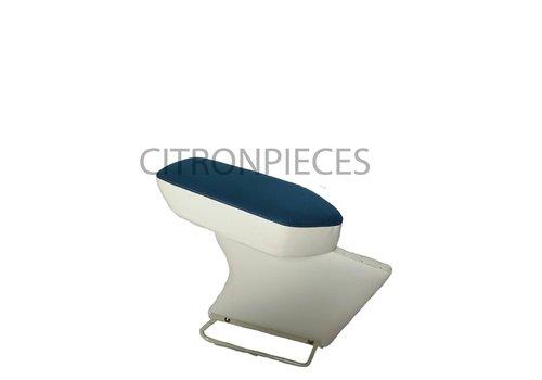 Apoio central para braço completo com revestimento em tecido azul e couro sintético cinza claro Citroën ID/DS