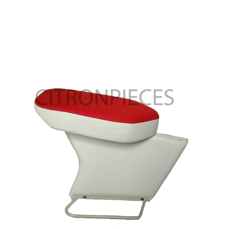 Central armrest bright red cloth Citroën ID/DS-1