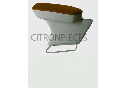 Apoio central para braço completo com revestimento em tecido caramelo e couro sintético cinza claro Citroën ID/DS