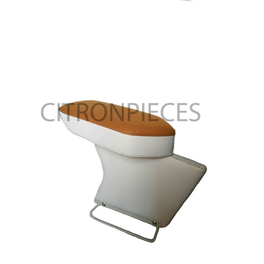Central armrest yellow/brown cloth Citroën ID/DS-2