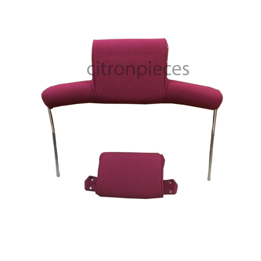 Head rest with red cloth trimming wide model 2 pieces Citroën ID/DS-1