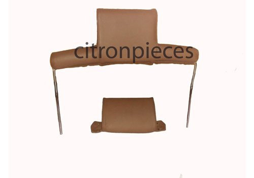 ID/DS Head rest with brown leather trimming wide model 2 pieces Citroën ID/DS