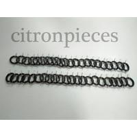 thumb-Satz von 44 Spanngummibänder einschließlich der Haken für Sitz Dyane/Ami6/HY Citroën 2CV-3