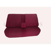 thumb-Banco tras montado c/ revest tecido vermelho(parte central 2 tons) Citroën ID/DS-1