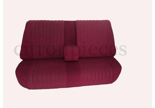 Banco tras montado c/ revest tecido vermelho(parte central 2 tons) Citroën ID/DS