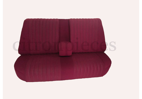 Rear bench fully mounted pallas 70-73 red cloth Citroën ID/DS