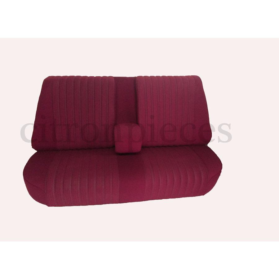 Banco tras montado c/ revest tecido vermelho(parte central 2 tons) Citroën ID/DS-1