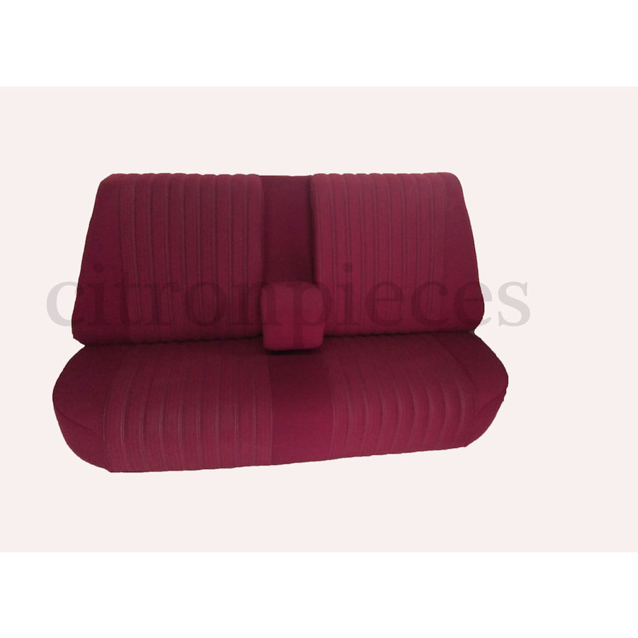 Rear bench fully mounted pallas 70-73 red cloth Citroën ID/DS-1