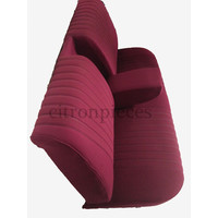 thumb-Banco tras montado c/ revest tecido vermelho(parte central 2 tons) Citroën ID/DS-2