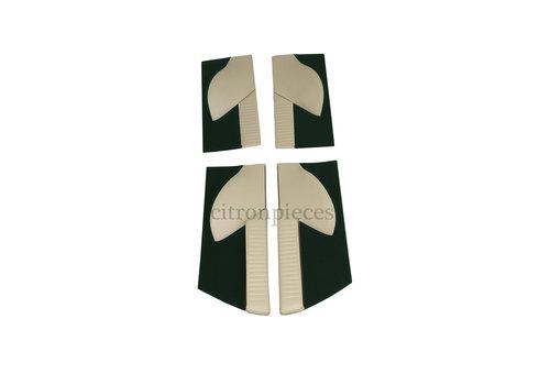 Set of 4 door cards in green cloth (pallas) Citroën ID/DS
