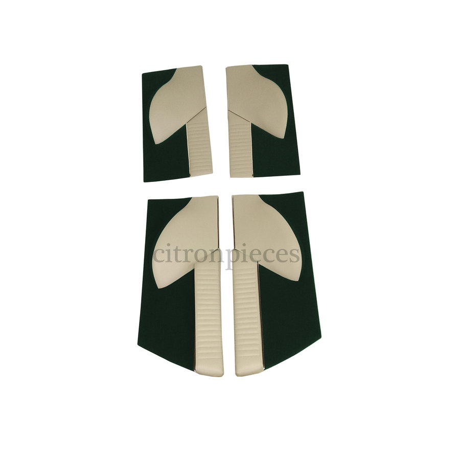 Set of 4 door cards in green cloth (pallas) Citroën ID/DS-1