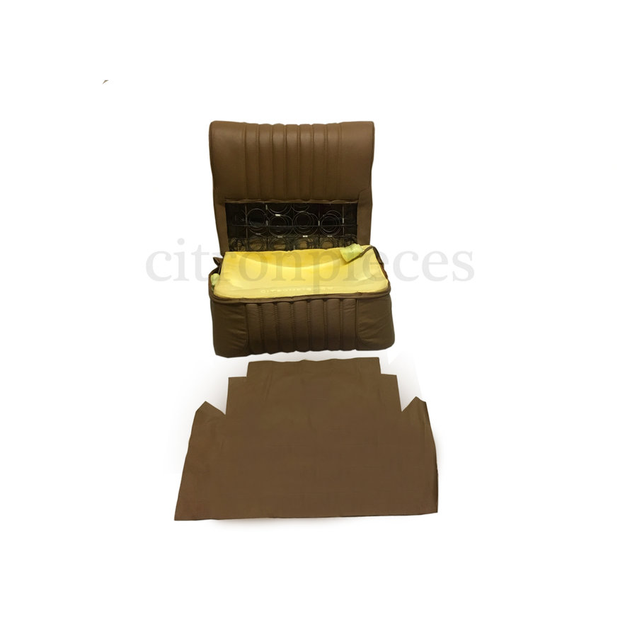 Half mounted front seat brown leather Citroën ID/DS-2