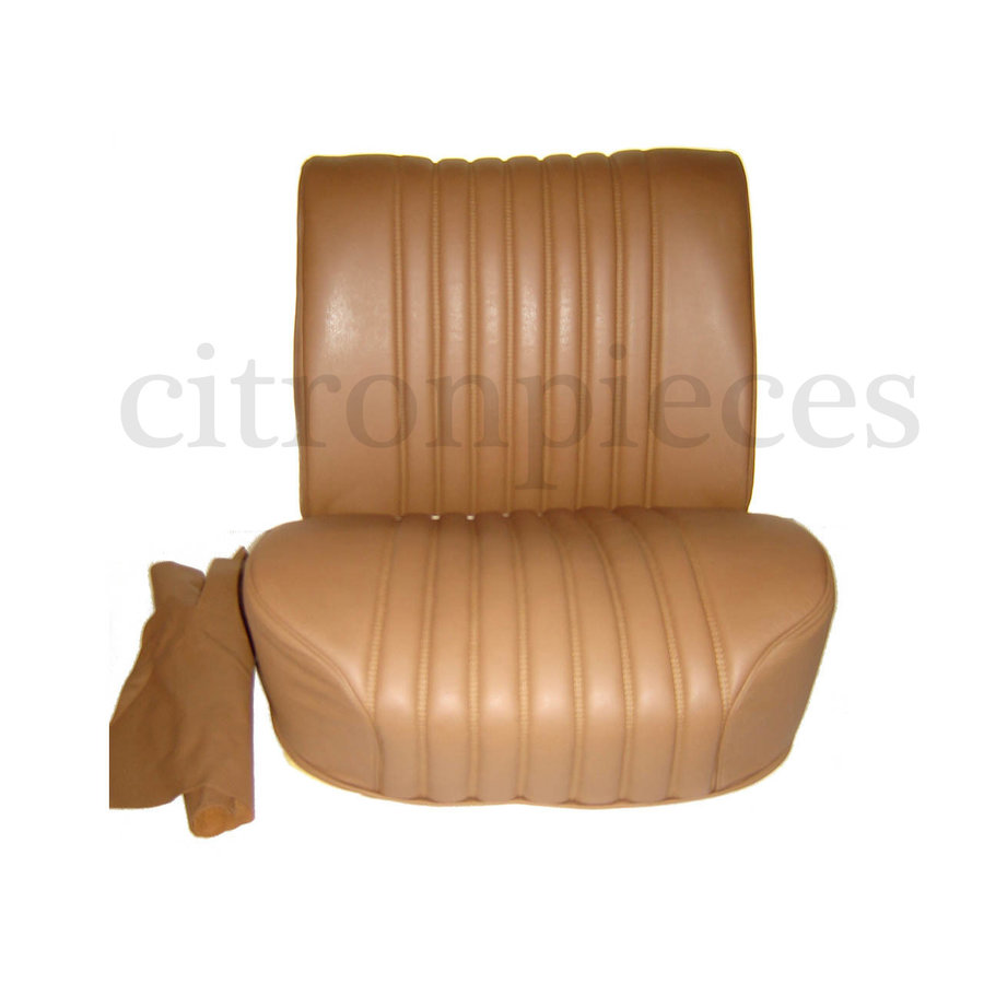 Half mounted front seat brown leather Citroën ID/DS-1