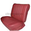 ID/DS Original Sitzbezug Satz für Vordersitz lederbezogen rot (Sitz Rückenlehne Abschlussfüllung für Feder-Rücken) Citroën ID/DS
