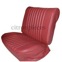 thumb-Originele hoes set voor 1 voorstoel rood leer (zitting leuning achterplaatvoor spiraalveren rugleuning) Citroën ID/DS-1
