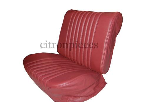 Original Sitzbezug Satz für Vordersitz lederbezogen rot (Sitz Rückenlehne Abschlussfüllung für Feder-Rücken) Citroën ID/DS