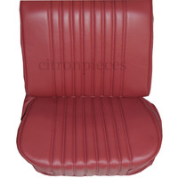 thumb-Front seat cover red leather Citroën ID/DS-2