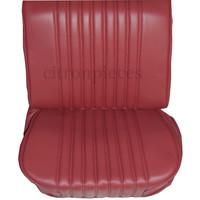thumb-Original Sitzbezug Satz für Vordersitz lederbezogen rot (Sitz Rückenlehne Abschlussfüllung für Feder-Rücken) Citroën ID/DS-2