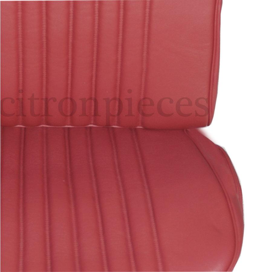 Originele hoes set voor 1 voorstoel rood leer (zitting leuning achterplaatvoor spiraalveren rugleuning) Citroën ID/DS-5