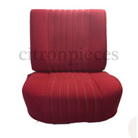 Front seat in red cloth (central part 2 tones) mounted on base frame without weel without back cover plate without preparation for head rest 68 Citroën ID/DS
