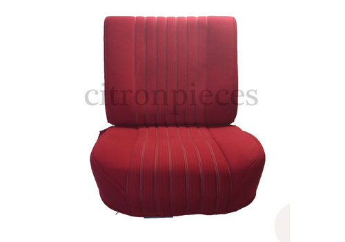 Front seat fully mounted pallas 70-73 red cloth Citroën ID/DS