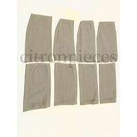 4 cloth material spring fixition pads for the bench Dyane Citroën 2CV