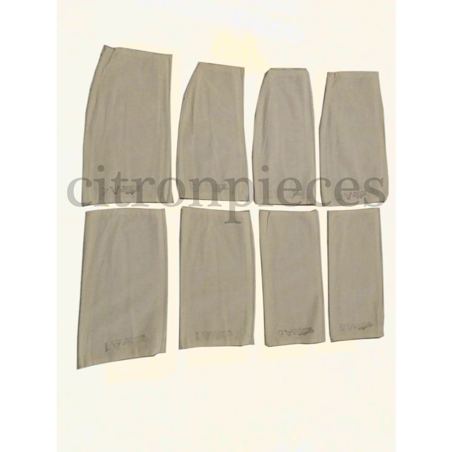 4 cloth material spring fixition pads for the bench Dyane Citroën 2CV-1