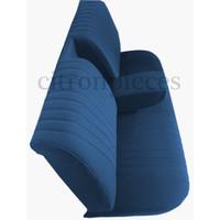 thumb-Achterbankhoes blauw stof gemonteerd Citroën ID/DS-2