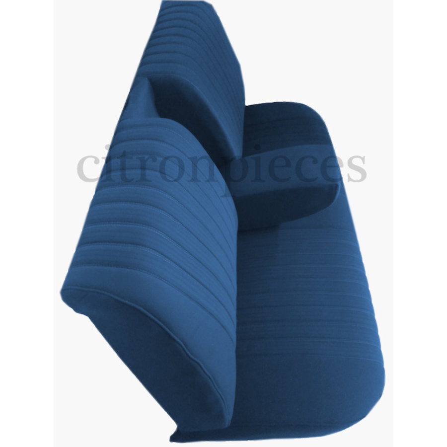 Mounted rear bench in blue cloth (central part 2 tones) Citroën ID/DS-2