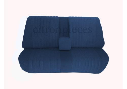 Banco traseiro montado com revest tecido azul (parte central 2tons) Citroën ID/DS
