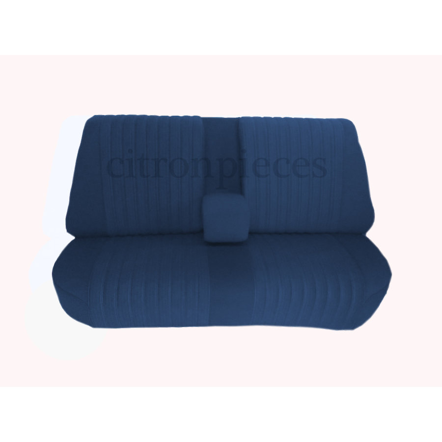 Mounted rear bench in blue cloth (central part 2 tones) Citroën ID/DS-1