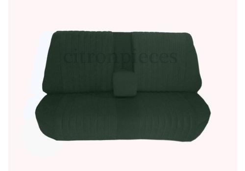 Achterbankhoes groen stof gemonteerd Citroën ID/DS