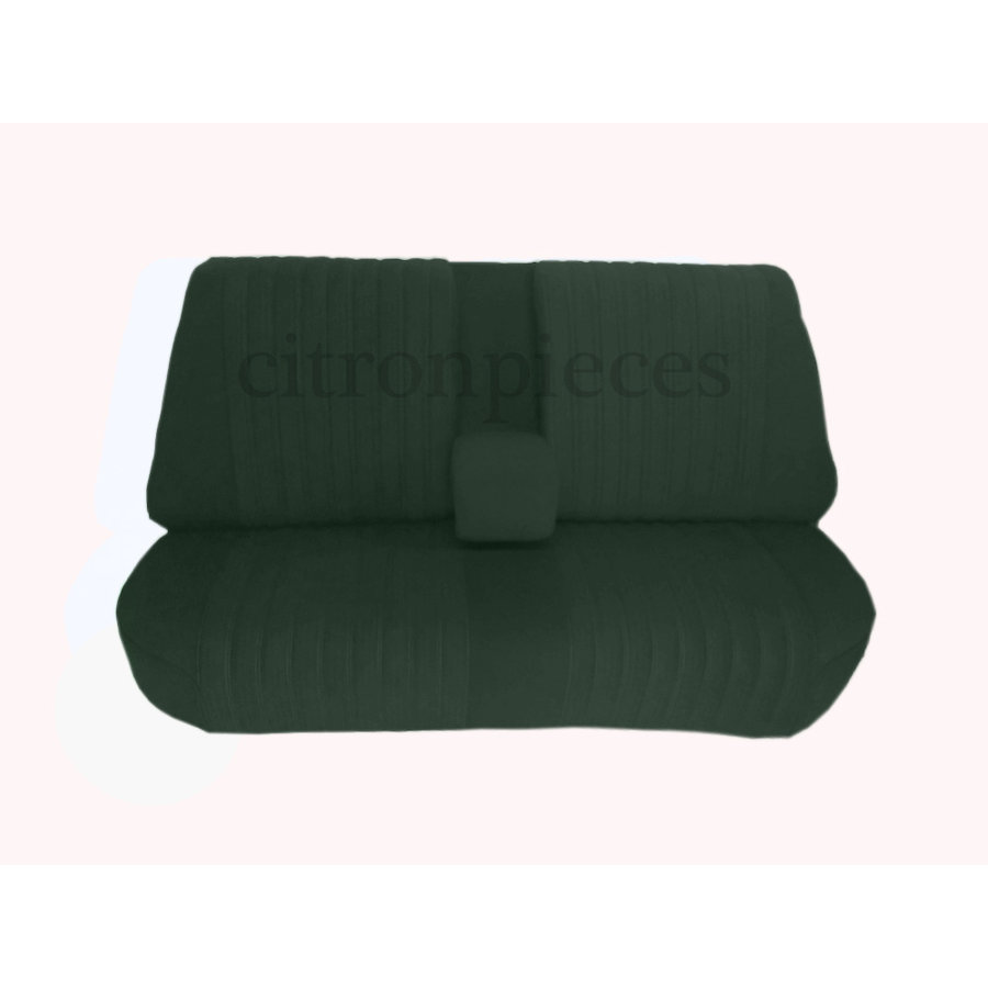 Mounted rear bench in green cloth (central part 2 tones) Citroën ID/DS-1