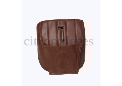 Sound proofing cover recovering the motor separation unit brown leatherette Citroën HY
