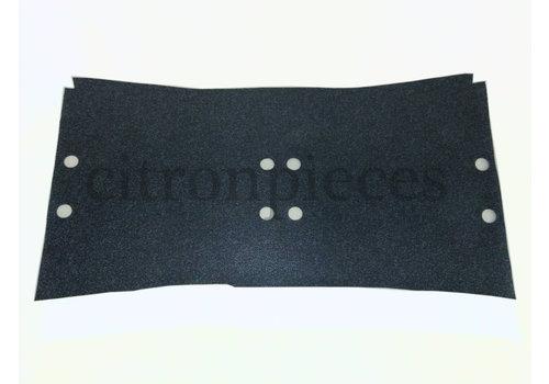 Garniture de sol en simili gris sous les sieges AV [+/-1245 x750] 4mm Citroën ID/DS