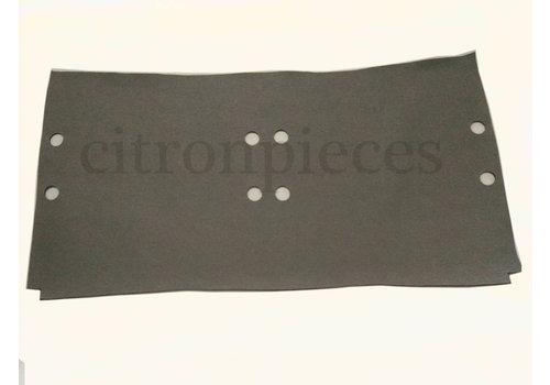 ID/DS Garniture de sol en simili gris clair sous les sieges AV [+/-1245 x750] 4mm Citroën ID/DS