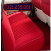 ID/DS Rear bench cover pallas from from 69 red cloth Citroën ID/DS