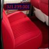ID/DS Sitzbezugsatz für Hinterbank Stoff-bezogen rot (1 Farbton): Sitz 1 Teil Rückenlehne 4 Teile Citroën ID/DS