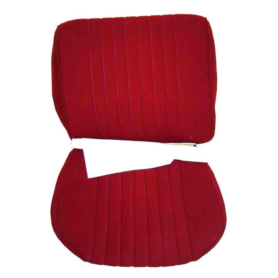 Garniture siège AV en étoffe rouge unie pour assise + dossier Panneau de fermeture en simili blanchâtre Pallas 1969Citroën DS-2