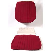 thumb-Garniture siège AV en étoffe rouge unie pour assise + dossier Panneau de fermeture en simili blanchâtre Pallas 1969Citroën DS-3